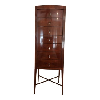 Michael Vanderbyl for Baker Art Deco-Style Mahogany Chest of Drawers For Sale