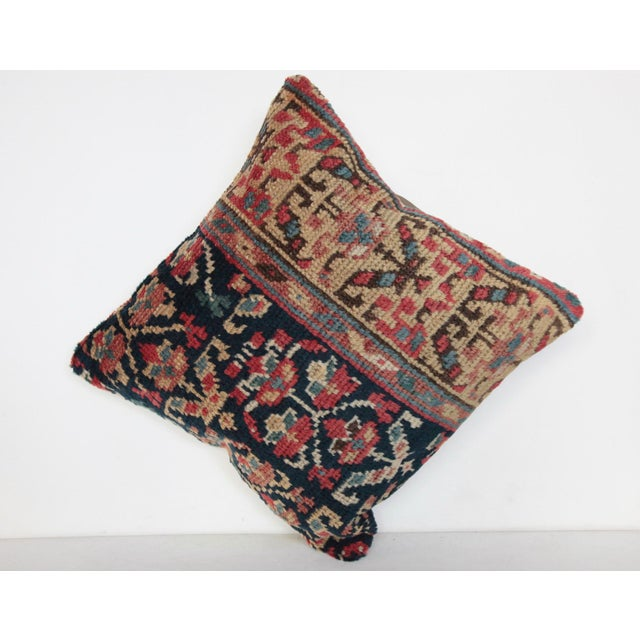 """This is beautiful Carpet pillow, it""""s made from antique Caucasian rug. it has been soft washing before become a pillow...."""