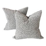 Image of Scalamandre Panther Epingle Velvet Pillows - A Pair For Sale
