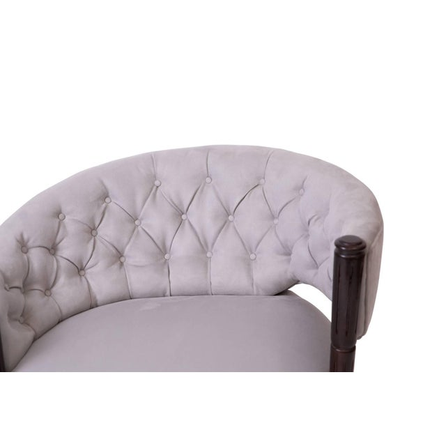 Mid-Century Modern 1940s Sculptural Diamond Tufted Lounge Chairs - a Pair For Sale - Image 3 of 6