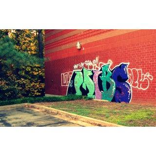 'Suburban Graffiti #2' Contemporary Photograph For Sale