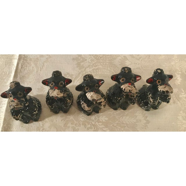 Black Poodle Shakers - Set of 5 For Sale - Image 9 of 10