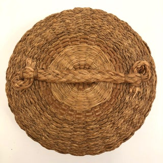 Braided Sweetgrass and Ash Splint Fine Penobscot Lidded Basket Preview