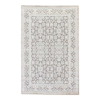 Jaipur Living Regal Damask Gray & White Area Rug - 12'x15' For Sale