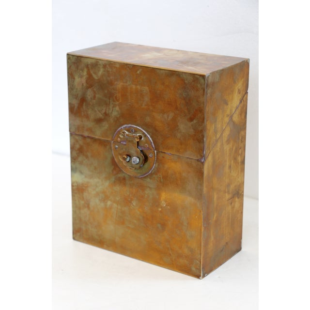 Transitional Monogrammed Brass Letter Box For Sale - Image 3 of 7