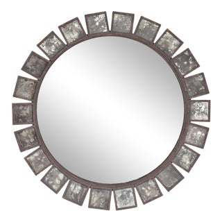 "Formations Antiqued Bronze Soleil Mirror, 46.5"" For Sale"