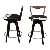 Image of Mid Century Danish Swivel Bar Stools- A Pair For Sale