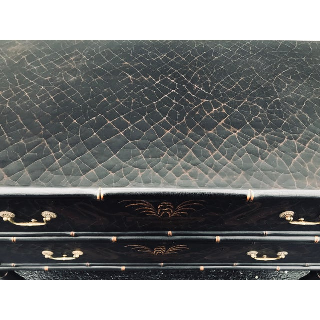 Brown 1990s Chinoiserie Side Chests - a Pair For Sale - Image 8 of 12