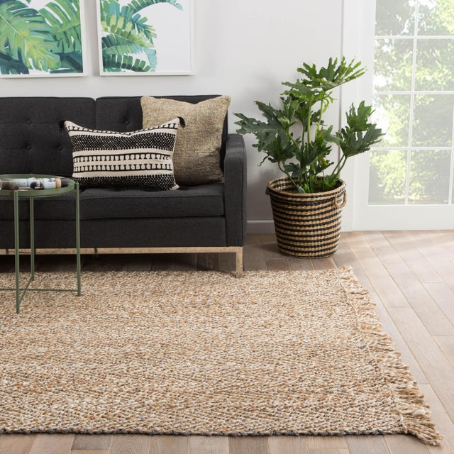 2010s Jaipur Living Hoopes Natural Chevron Beige/Gray Area Rug - 9′ × 12′ For Sale - Image 5 of 6