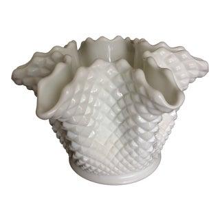 Vintage Westmoreland Milk Glass Hobnail Vase For Sale