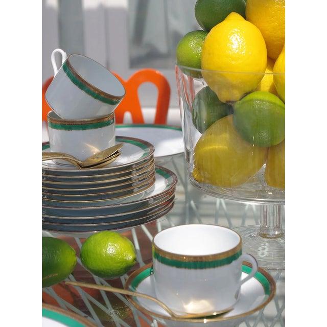 Vintage Richard Ginori Palermo Green 6-Place Dinnerware Set For Sale - Image 9 of 10