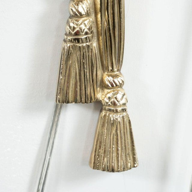 Mid-Century Modern Mid-Century Modern Neoclassical Silvered Bronze Sconces - a Pair For Sale - Image 3 of 9