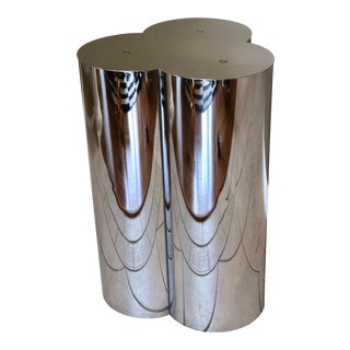 1960s Vintage Curtis Jere Sculptural Chrome Trefoil Pedestal or Table Base For Sale
