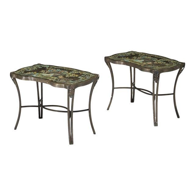 Philip and kelvin laverne occasional tables - a pair For Sale