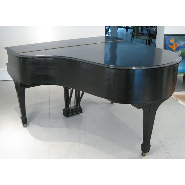 Steinway & Sons 1912 Model M Ebony Piano For Sale - Image 10 of 12