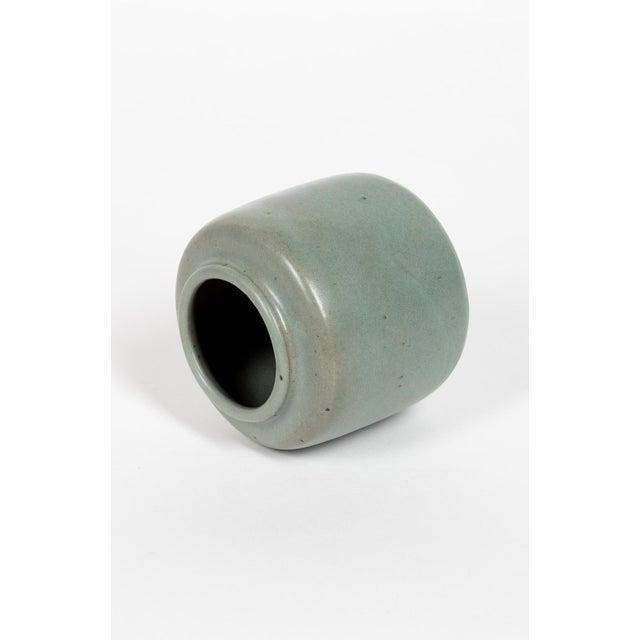 Nice minimalist ceramic vase by Edouard Chapallaz, circa 1970. Good condition. Diameter : 13.5cm Hight : 13cm