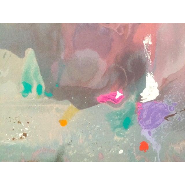 "Helen Frankenthaler Rare Lmtd Edtn Original Hand Pulled Silkscreen Print "" Grey Fireworks "" 1982 For Sale - Image 10 of 13"