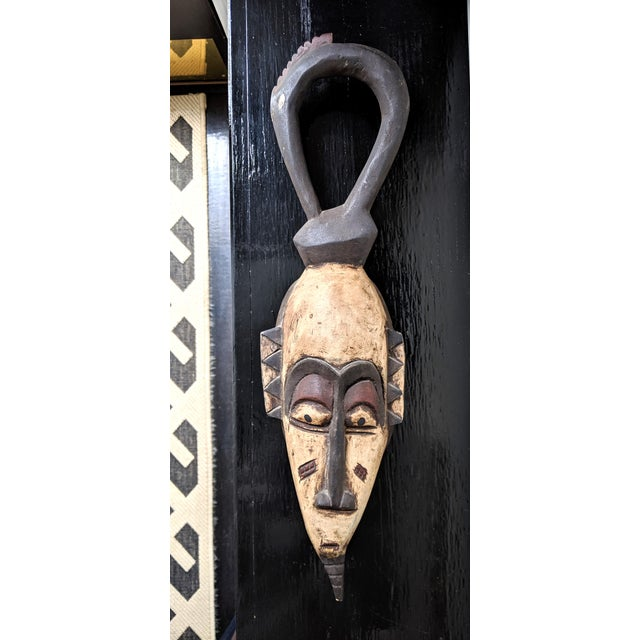 Late 20th Century Handcarved African Wooden Mask For Sale In Portland, ME - Image 6 of 6