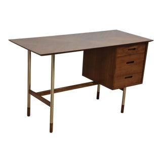 Jack Cartwright for Founders Walnut and Steel Desk For Sale