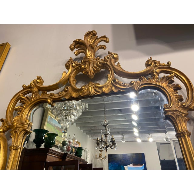 Victorian Vintage 1940s Victorian Gilt Gold Mirror For Sale - Image 3 of 7