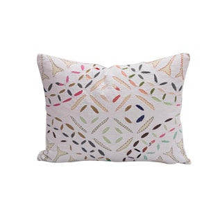 Hand Stitched Quilted Pillow For Sale