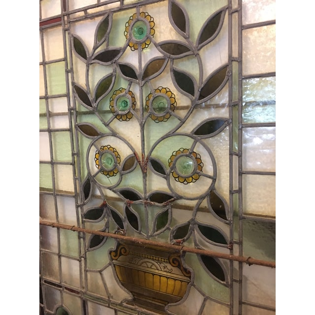 Beautiful 1920's English Stained Glass Door For Sale - Image 11 of 11