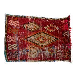 Moroccan Boucherouite Rug For Sale