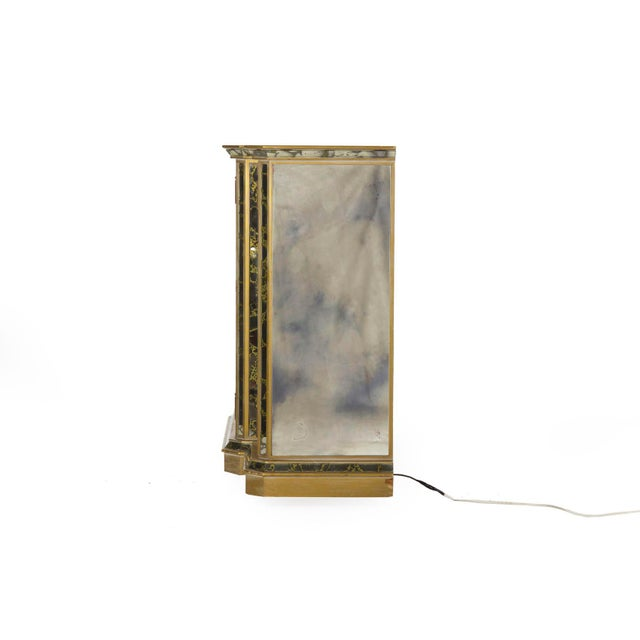 1940s French Art Deco Smoked Mirror Bar Server Console Sideboard, C. 1940s For Sale - Image 5 of 13
