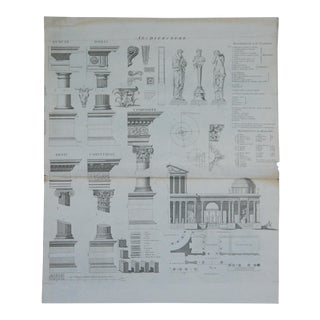 Antique Roman Architectural Engraving For Sale