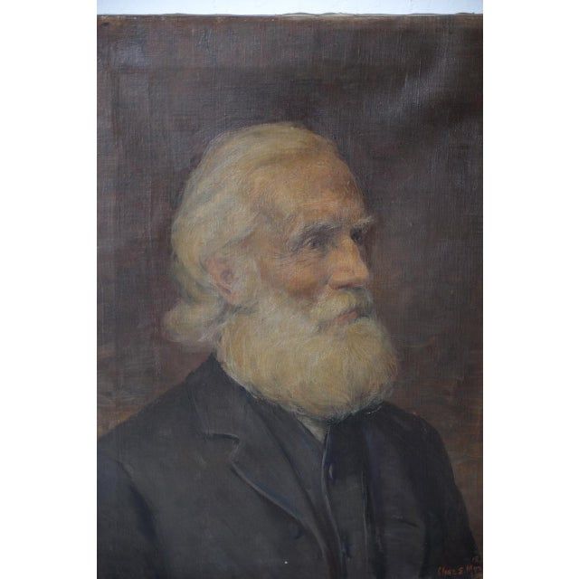 Portraiture Charles Moss (1860-1901), 19th Century Oil Portrait C.1897 For Sale - Image 3 of 5