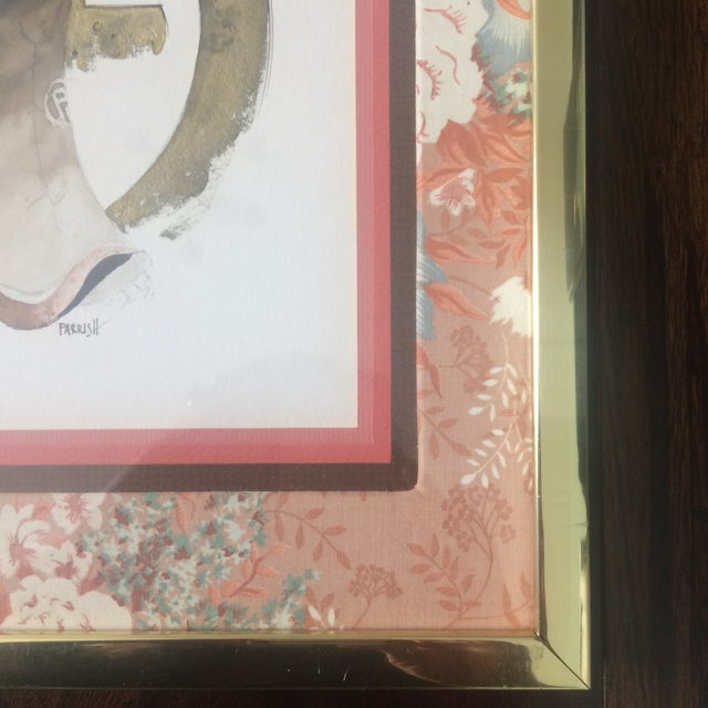 1980s Chinoiserie Geisha Portrait Watercolor Artwork For Sale - Image 10 of 11
