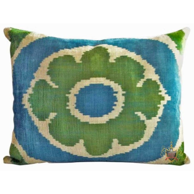 Belgian Belgian Silk Velvet Down Feather Accent Pillow For Sale - Image 3 of 3