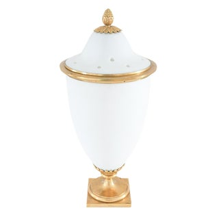 Late 18th Century Vintage French Porcelain and Gilt Bronze Urn For Sale