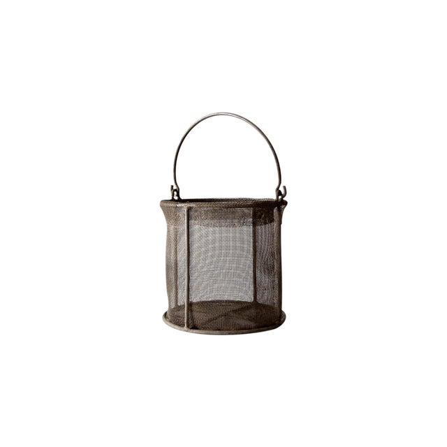 Vintage Wire Mesh Bucket With Handle - Image 1 of 8