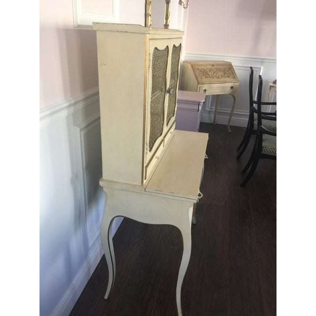 French Provincial Secretary Desk With Mesh Doors - Image 4 of 11