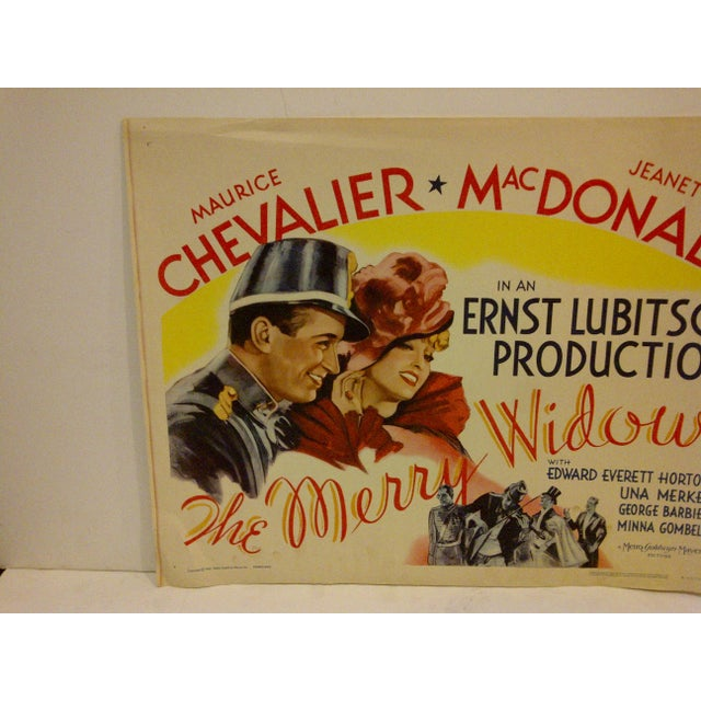 "Pop Art 1962 Vintage ""The Merry Widow"" Movie Poster, Starring Maurice Chevalier For Sale - Image 3 of 5"