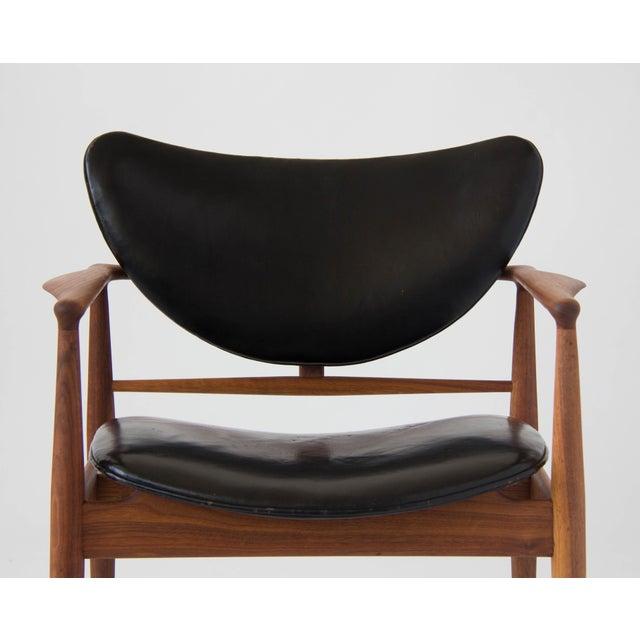 Animal Skin Finn Juhl for Baker Furniture Model 48 Chair For Sale - Image 7 of 9