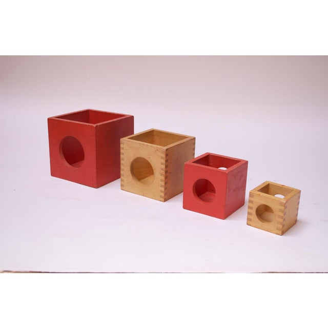 Set of Four Vintage Nesting Cubes by Creative Playthings of Finland For Sale - Image 13 of 13