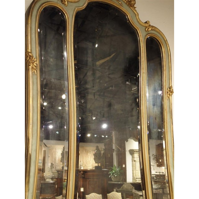 Antique Painted Console Table and Mirror from Italy, Circa 1880 For Sale - Image 4 of 11