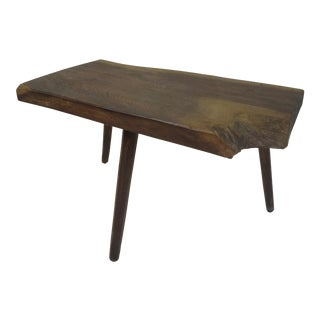 Side Table in the Style of George Nakashima Dated 1973