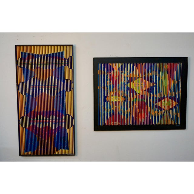 Paint Louvered Abstract Painting by Louis Nadalini For Sale - Image 7 of 9