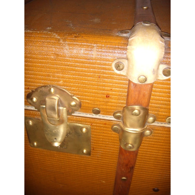 French Wood, Vellum & Leather Trunk - Image 8 of 10