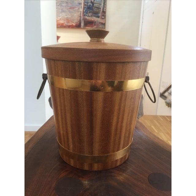Teak and Brass Mid-Century Ice Bucket - Image 2 of 5