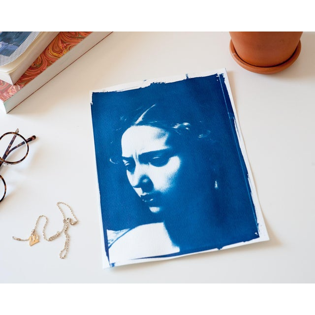 Modern Cyanotype Print - Caravaggio Painting For Sale - Image 3 of 4