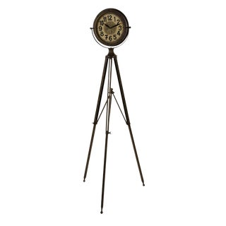 Industrial Tripod Clock For Sale