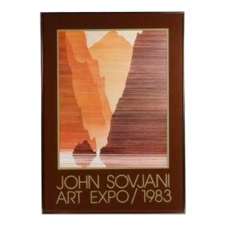 John Sovjani 1983 Framed Art Exhibition Poster For Sale