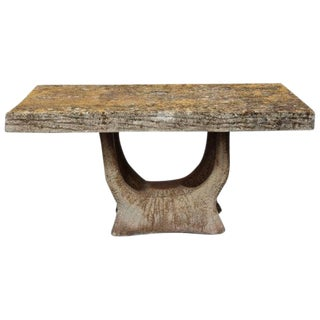 Vintage French Faux Bois Garden Table For Sale