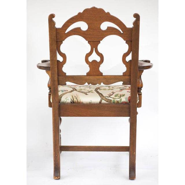 Vintage Wooden Dining Room Chairs - Set of 4 - Image 10 of 11