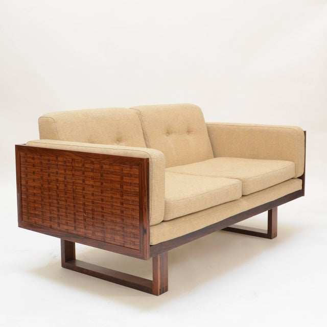 Poul Cadovius Two-Seat Sofa and Chair Set in Rosewood for France & Son For Sale In Los Angeles - Image 6 of 10
