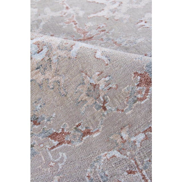 Harwich Hand-Knotted Bamboo SilkLight Blue Rug - 8'x10' For Sale In Los Angeles - Image 6 of 8